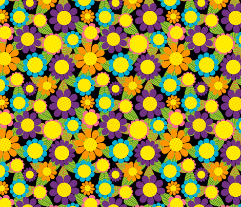 Sunflowers fabric by lydia_meiying on Spoonflower - custom fabric