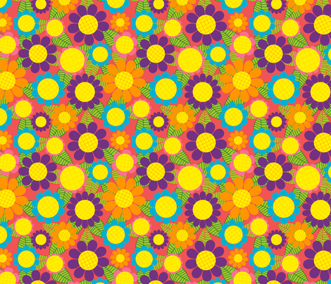 Sunshine Sunflowers fabric by lydia_meiying on Spoonflower - custom fabric