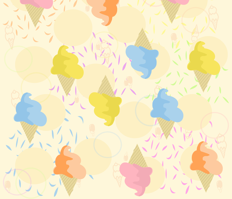 Candy Dipped cones fabric by tracydw70 on Spoonflower - custom fabric