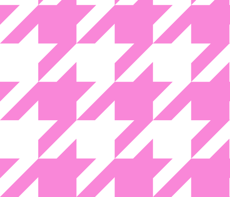The Houndstooth Check ~ Demoiselle and White ~ Medium fabric by peacoquettedesigns on Spoonflower - custom fabric