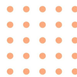 Orange and White Polka Dots