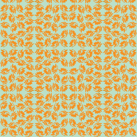 lilies (orange) fabric by mysweetopaldee on Spoonflower - custom fabric