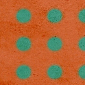 Grungy Orange green fabric