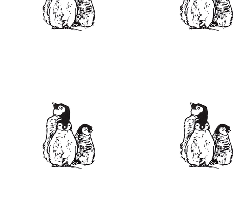 Baby Penguins fabric by woodle_doo on Spoonflower - custom fabric