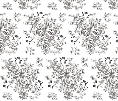 Daisy Bouquet fabric by countrygarden on Spoonflower - custom fabric
