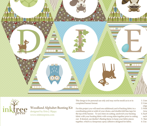 Custom Order - Personalized Bunting Kit fabric by inktreepress on Spoonflower - custom fabric