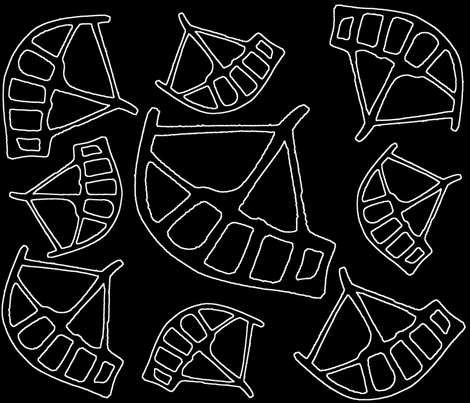 Ancient Boats fabric by merttu on Spoonflower - custom fabric