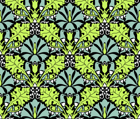 Lush Garden fabric by kdl on Spoonflower - custom fabric