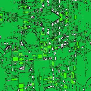 green outlines