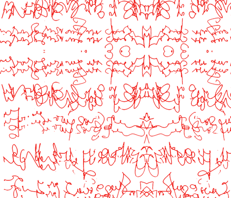 script fabric by heikou on Spoonflower - custom fabric