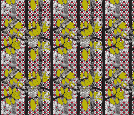 arbre_magique_color_M fabric by nadja_petremand on Spoonflower - custom fabric