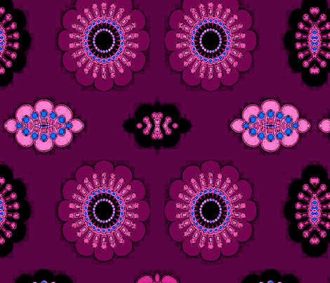 purple flowers fabric by heikou on Spoonflower - custom fabric