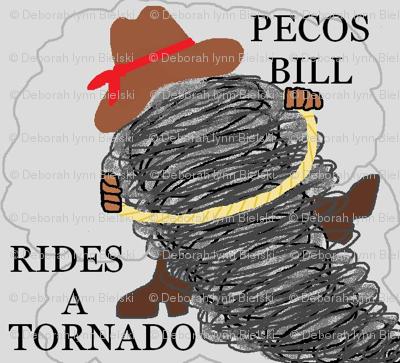 Pecos Bill Rides A Tornado