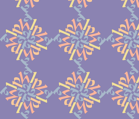 a l p h a   in blue fabric by greenmyeyes on Spoonflower - custom fabric