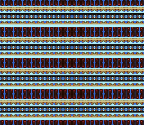 Lights on Blue fabric by robin_rice on Spoonflower - custom fabric