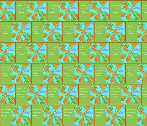 lime popsicle haiga fabric by gingezel on Spoonflower - custom fabric