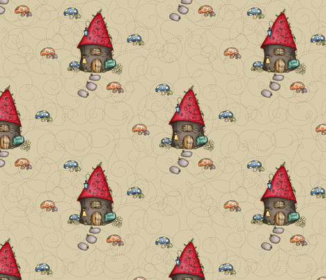 Gnomeland - Sweet Home fabric by catru on Spoonflower - custom fabric