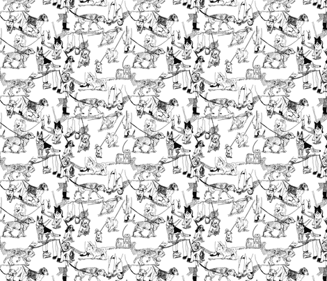 Go For a Walk fabric by antje on Spoonflower - custom fabric