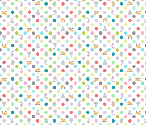 animal dots fabric by katarina on Spoonflower - custom fabric
