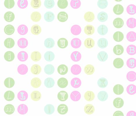 Alphabet_Megnets_cc fabric by jennwise on Spoonflower - custom fabric