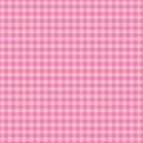 Berry Pink Gingham fabric by countrygarden on Spoonflower - custom fabric