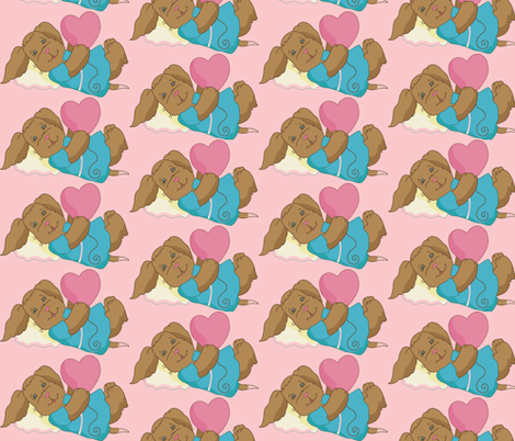 PuppyLove fabric by cr©ations_bme on Spoonflower - custom fabric