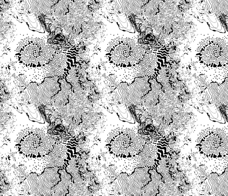 organic black and white fabric by heikou on Spoonflower - custom fabric