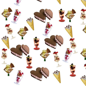 Various Ice Cream (White)