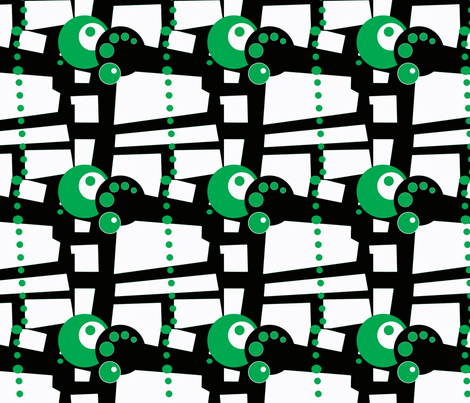 green dots and circles fabric by heikou on Spoonflower - custom fabric