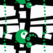 green dots and circles