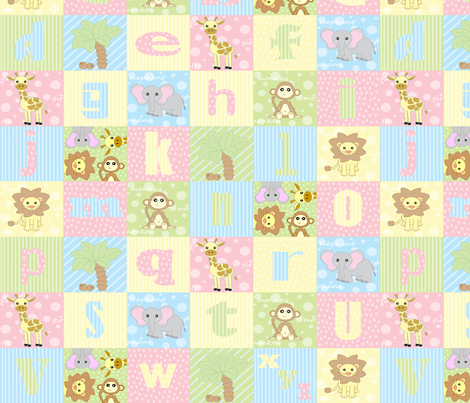 The Little Jungle Alphabet fabric by jsdesigns on Spoonflower - custom fabric