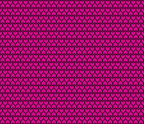 Small Pixel Hearts Pink fabric by modgeek on Spoonflower - custom fabric