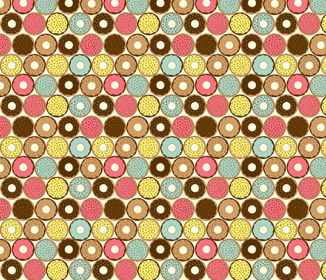 Donut fabric by lydia_meiying on Spoonflower - custom fabric