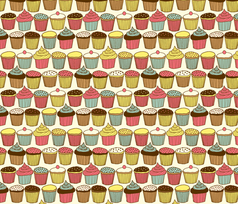 Cupcake fabric by lydia_meiying on Spoonflower - custom fabric