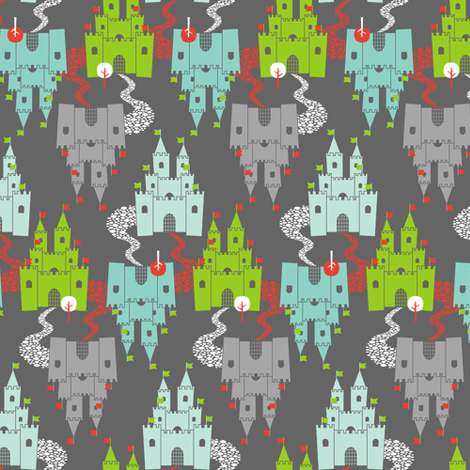 Castle Dreams 2-directional fabric by zesti on Spoonflower - custom fabric
