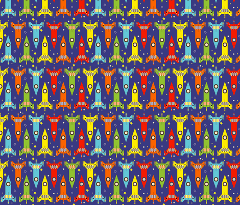 Rockets fabric by lydia_meiying on Spoonflower - custom fabric