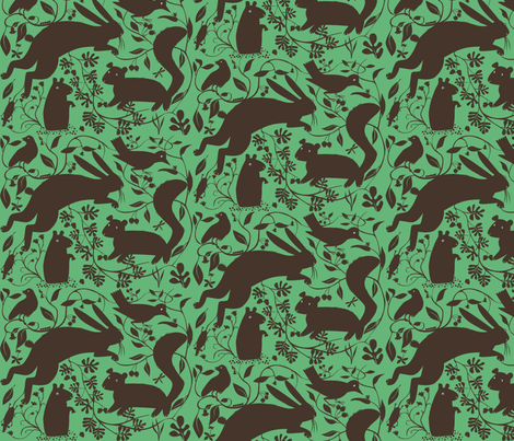 Woodland_dk_green fabric by antoniamanda on Spoonflower - custom fabric