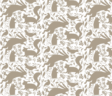 Woodland_grey fabric by antoniamanda on Spoonflower - custom fabric