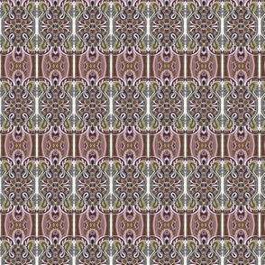 Chocolate Paisley Vertical Stripe