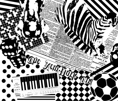 Black & White All Over fabric by astarmiller on Spoonflower - custom fabric