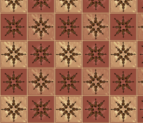 © 2011 Fiddlin' Around fabric by glimmericks on Spoonflower - custom fabric