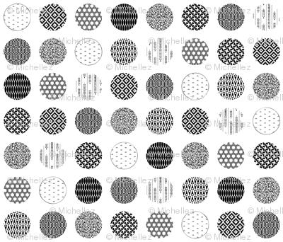 Textured polka dots