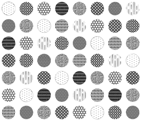 Textured polka dots fabric by michellez on Spoonflower - custom fabric