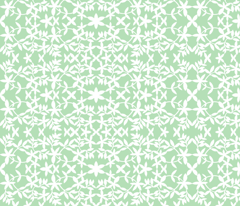 Paper Lantern - Mint fabric by jiah on Spoonflower - custom fabric