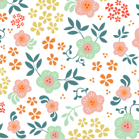 Eden - White fabric by jiah on Spoonflower - custom fabric