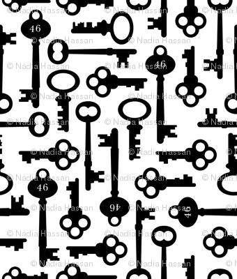 Skeleton Keys: Black & White