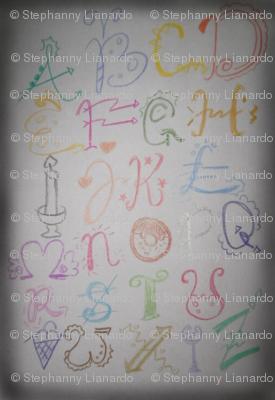 Framed Ornamented Alphabet
