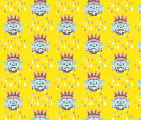 When the rain gods cry fabric by zesti on Spoonflower - custom fabric