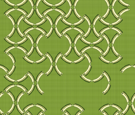 Geometric Wooden Tracks - grass fabric by joybucket on Spoonflower - custom fabric