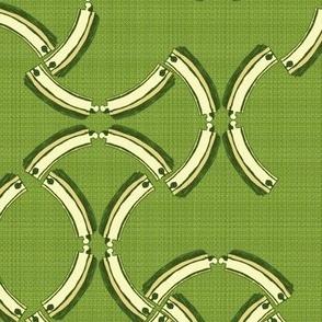 Geometric Wooden Tracks - grass